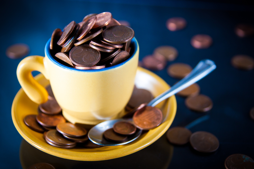 coffee mug coins